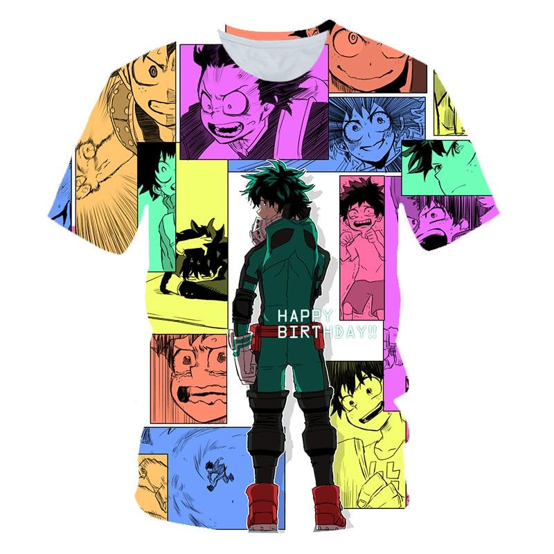 T Shirt Boys for Anime My Hero Academia Izuku Midoriya Cosplay Boku No Hero Academia ALL Print T shirts Short Sleeve tshirts in T Shirts from Mother Kids