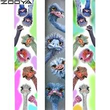 "ZOOYA 풀 스퀘어/라운드 드릴 5D DIY 다이아몬드 페인팅 ""Crazy ostrich"" 3D 다이아몬드 자수 동물 크로스 스티치 홈 데코 선물"