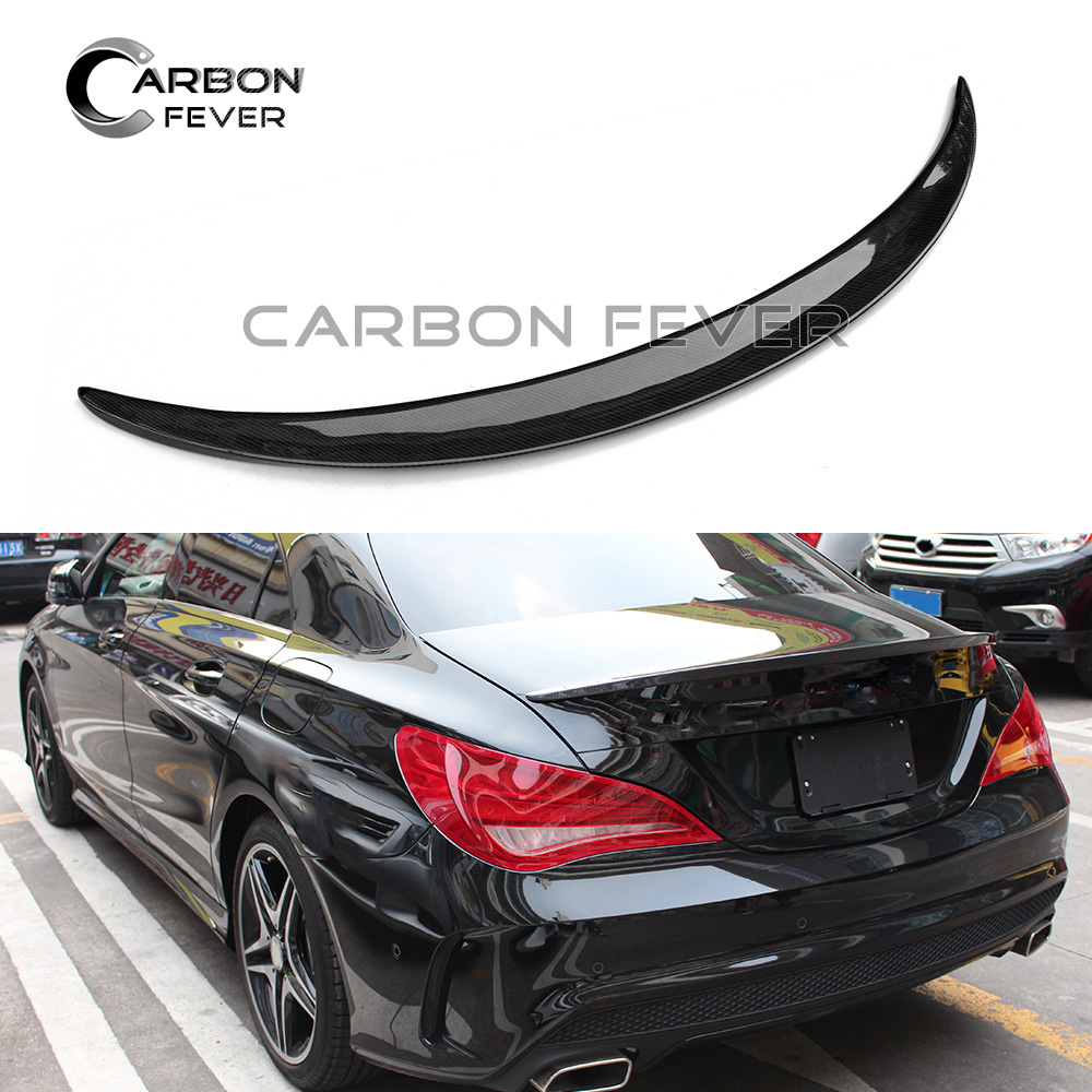 Carbon Firber Rear Deck <font><b>Spoiler</b></font> Boot Lip Wing for CLA Class W117 C117 Sedan 2013 - 2019 CLA45 <font><b>CLA200</b></font> CLA250 CLA220 image