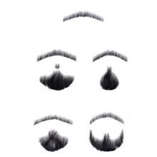 LiangMo Nep кружева борода поддельные бороды для мужчин усы ручной работы Remy человеческие волосы Barba Falsa Косплей швейцарские кружева невидимые бороды