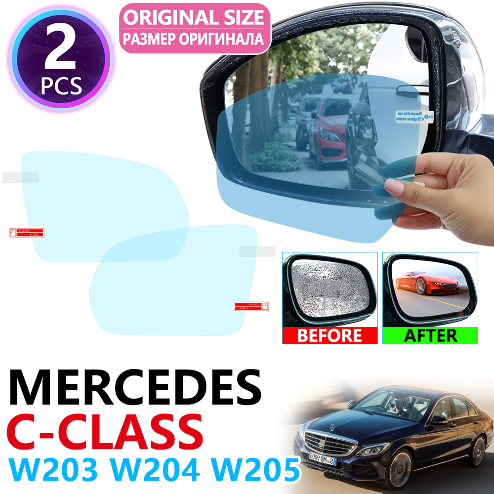 for <font><b>Mercedes</b></font> Benz C-Class W203 W204 W205 C-Klasse C180 C200 C220 C250 <font><b>C300</b></font> Full Cover Rearview Mirror Anti Fog Film Accessories image