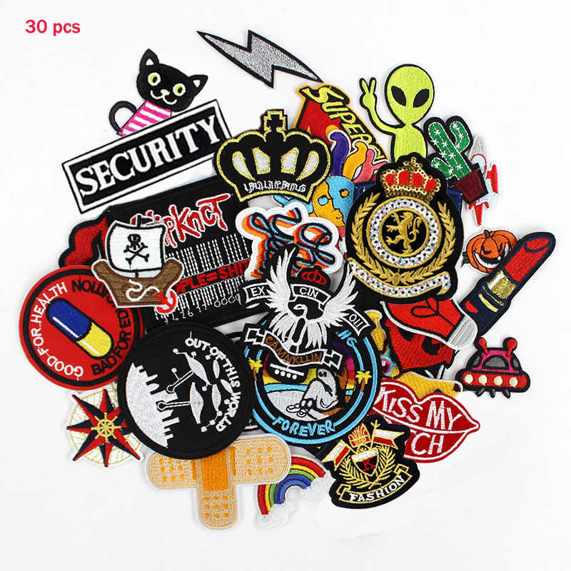 Patches Iron Embroidered Sew Transfers Badges Appliques Lots Pattern Patch bulk