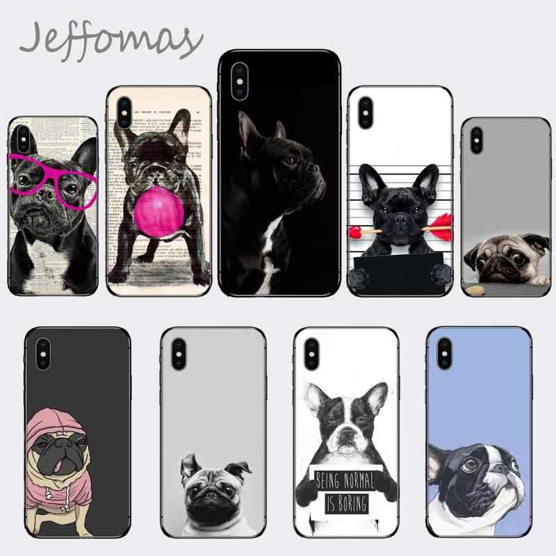 Cute Funny French Bulldog Luxury Phone Case for iPhone 11 12 pro XS MAX 8 7 6 6S Plus X 5S SE 2020 XR