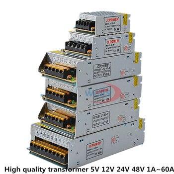 Good quality LED DC5V 12V 24V 48V Strip Power to AdapterAC100-240V 1A 2A 3A 4A 5A 6A 8A 10A 15A 20A 30A 40A 50A 60A Power Supply 12v 24v 48v volt power supply 1a 2a 3a 5a 6a 8a 10a 12a 15a 20a 30a 33a 40a transformer 220v to 12v 24v 48v power supply smps
