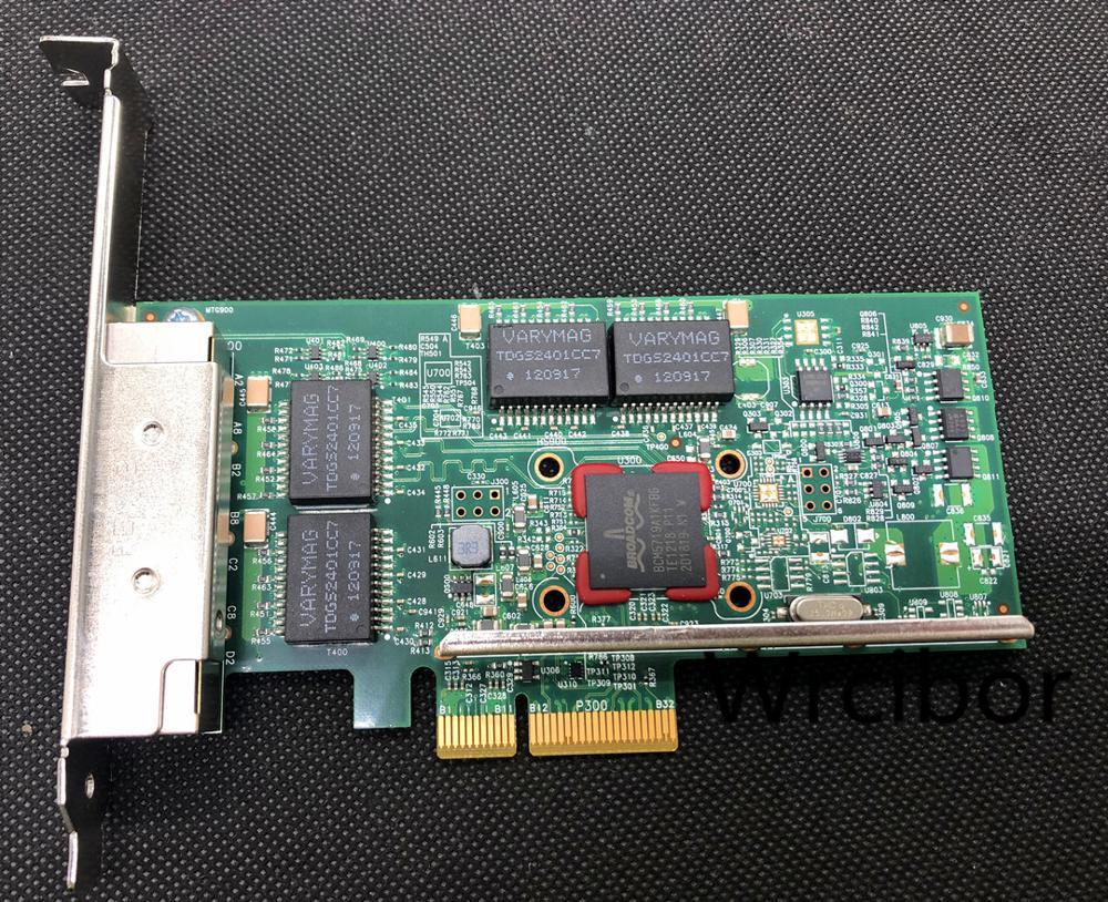 Broadcom BCM95719A1904G BCM5719A1KFBG DELL TMGR6 74Y4064 IBM KH08P 0KH08P  Quad-port PCIe Gigabit Ethernet Network Card