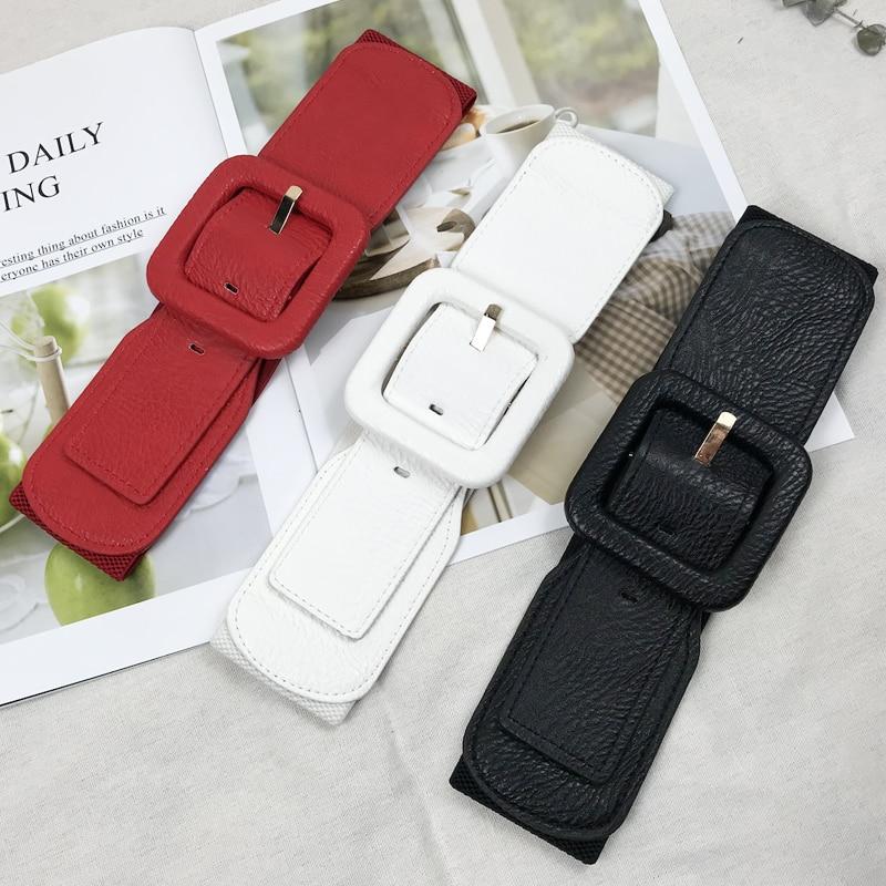 Plus Size Belt Woman Waist Wide Belts For Women Corset Cummerbunds Designer Elastic Big Ceinture Femme High Quality Dress Belt