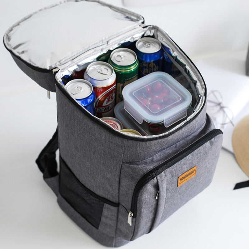 High Guality Insulation Bag Picnic Cooler Tote Food Fresh Keeping Wine Lunch Package Bottle Thermal Zip Backpack Accessories image