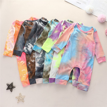 baby girls clothes boys girls autumn romper baby kids toddler long sleeve tie dye print o-neck romper infant cotton clothing new arrival easter baby girls long sleeve cotton floral ruffle boutique romper tutu pink clothes bunny kids wear match bow kids