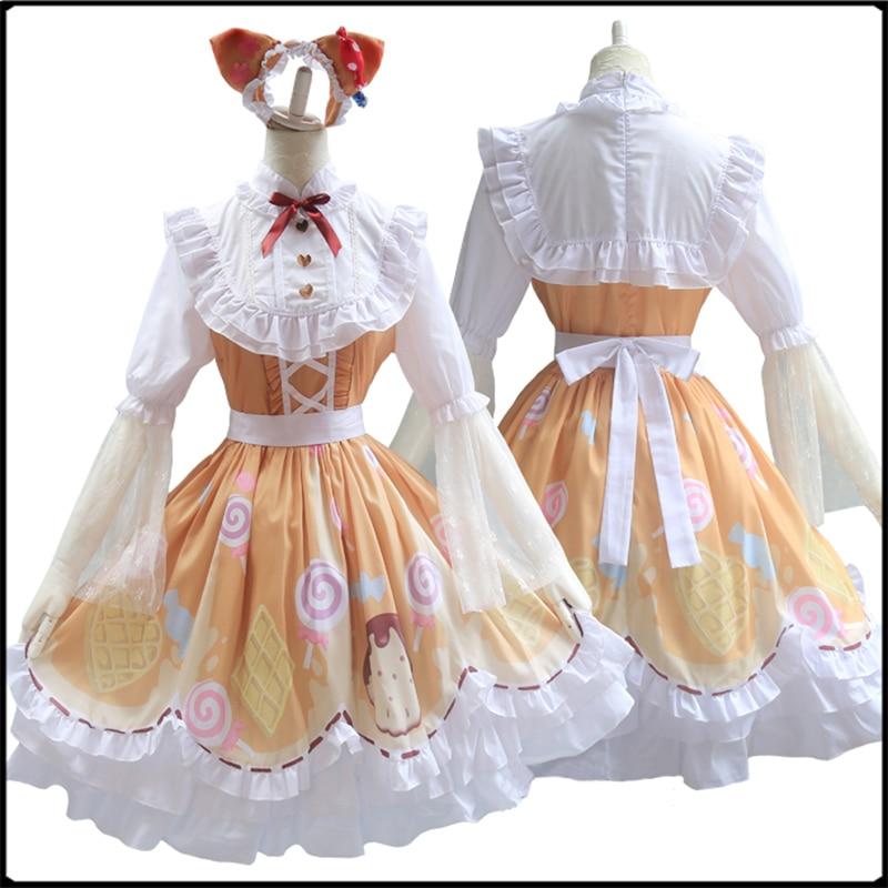 Identität V Cosplay Kostüm Mechaniker Candy Girl Kostüm Cosplay Sweetie Lolita Kleid Partei Täglichen Kleid Kostüm Full Set