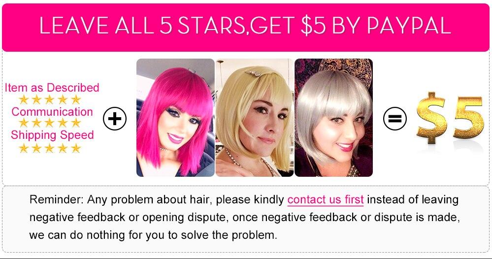 peruca de cabelo sintético para as mulheres