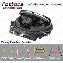 Emblem Flipping Rückansicht Kamera Auto Rückfahr Kamera Abzeichen Backup Kamera Für VW Golf 5 6 7 MK5 6 7 polo Passat B6 B7 B8 EOS