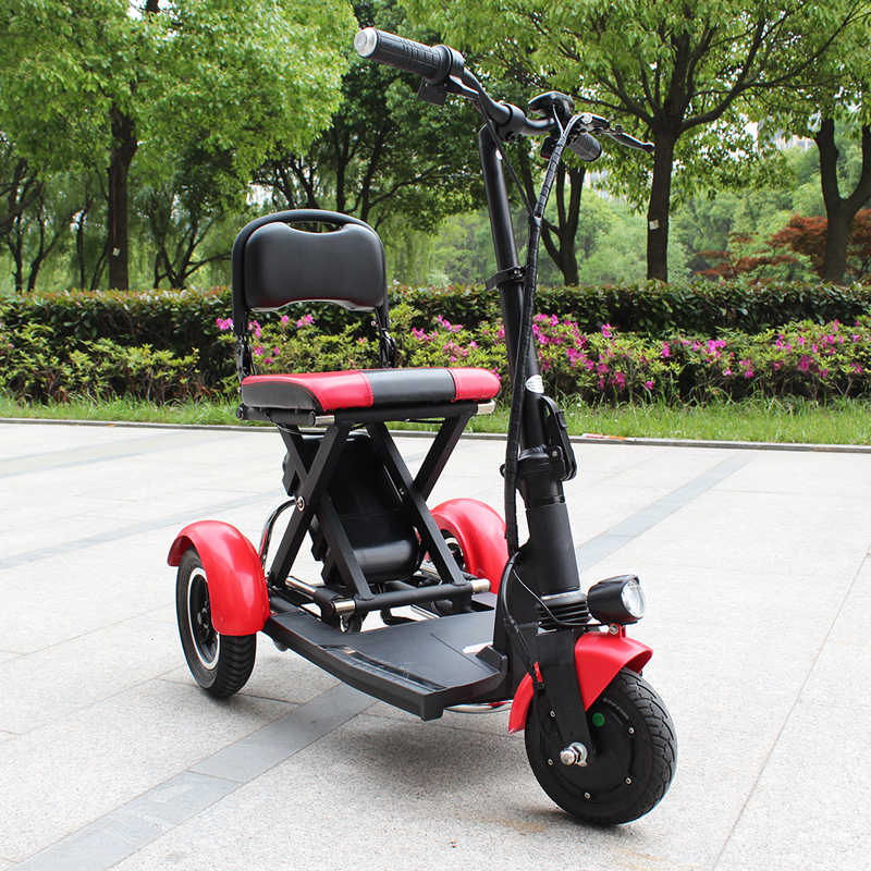 Electric Kick Scooter Adult Three Wheel Electric Scooters Tricycle 36V 300W Portable Folding Electric Elderly Scooter