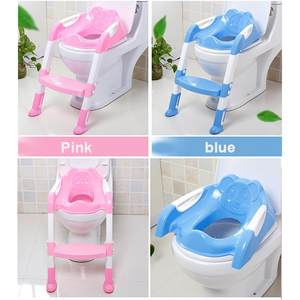 Seat Trainer Seat-Step-Stools Toilet-Training Foldable Baby PP Anti-Slip Smooth Useful
