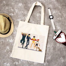 Anime Cowboy Bebop Uncle Spike Spiegel Men See You Space Tote Bag Unisex Canvas Bags Shopping Bags Printed Shoulder Bag Foldable(China)