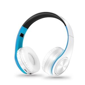 Image 3 - แบบพกพาใหม่หูฟังไร้สายบลูทูธสเตอริโอHi FiชุดหูฟังเสียงMp3ปรับหูฟังพร้อมไมโครโฟนสำหรับเพลง