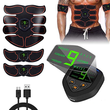 Abdominal Muscle Stimulator ABS EMS Trainer Body Toning Fitness USB Rechargeable Muscle Toner Workout Machine Men Women Training