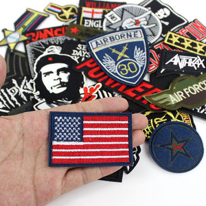 Image 2 - 30pcs /lot Punker clothes Patches Embroidery Badges hot iron on for men boys Jeans jacket Motorcycle Stickers
