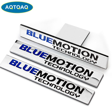 1Pcs 3D Metal Blue Motion Car Side Fender Rear Trunk Emblem Badge Sticker Decals for VW Sagitar CC Sagitar Golf 6, decorations