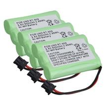 Перезаряжаемая аккумуляторная батарея для телефона 1-5 шт., 800 мА/ч, 3,6 В, аккумуляторные батареи ni-mh для приемника BT1004 BT-909 BT909 3 * AAA