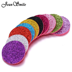 20PCS/lot Oil Diffuser Pads Colorful Shiny Aromatherapy Felt Pads for 30mm 22mm Perfume Essential Oil Diffuser Locket Pendants