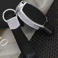 Carcasa de cristal de diamante de lujo para llave inteligente de coche para mercedes-benz A/B/C/E/ML/GL/S/GLA/GLK/CLS/CLA W204 W205 W212