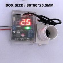 С дисплеем небольшой угол Ультразвуковой Модуль датчика 10-30 в релейный модуль измерения расстояния регулируемый диапазон 1-600 см