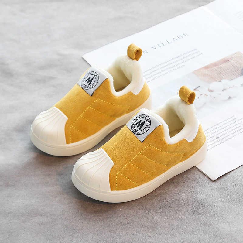 2019 Winter Meisjes Jongens Snowboots Peuter Baby Laarzen Warm Pluche Outdoor Baby Laarzen Antislip Comfort Kids Katoen schoenen