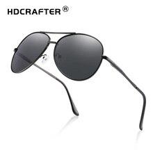 HDCRAFTER pilot sunglasses men polarized uv400 high quality retro vintage men sunglasses polarized driving sunglasses for male недорго, оригинальная цена