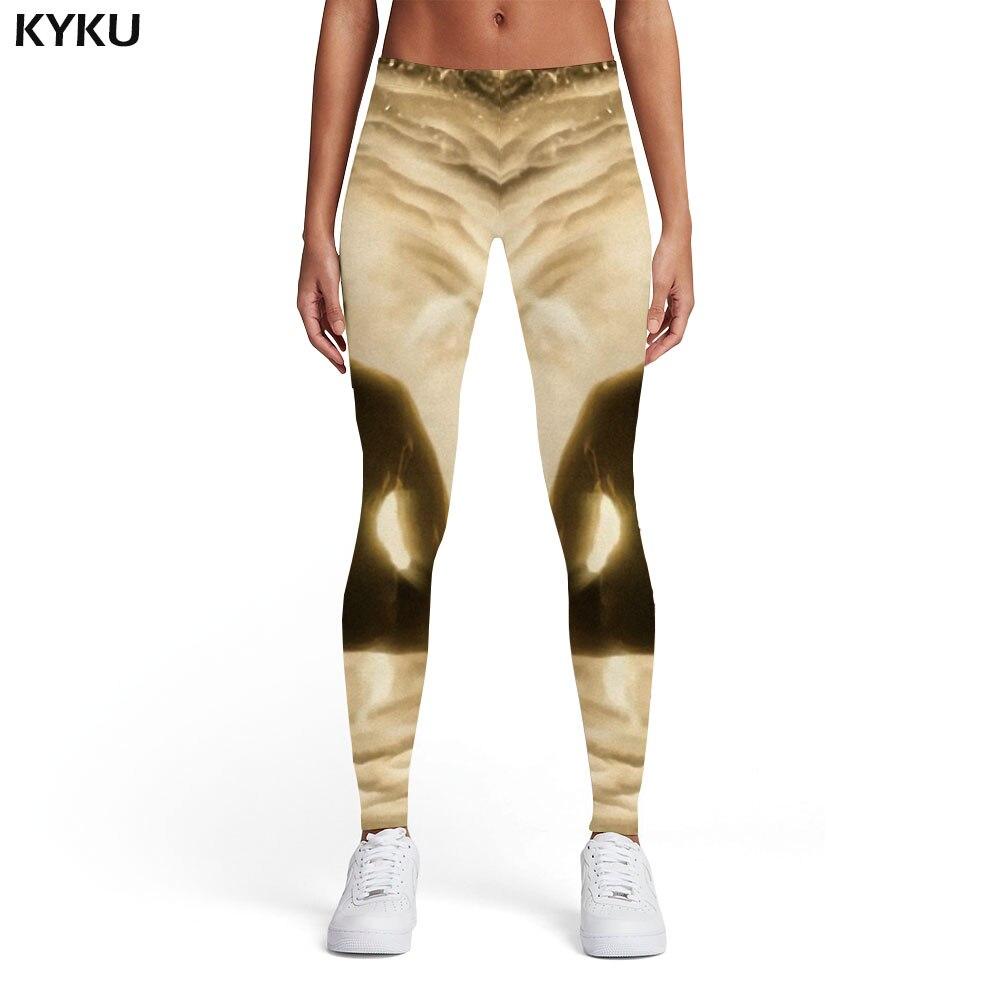 KYKU Brand Psychedelic Leggings Women Harajuku Elastic Hand Sexy Gray Spandex Gothic Leggins Womens Leggings Pants Fitness