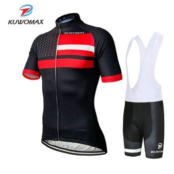 KUWOMAX 2019 мужской Pro короткий рукав Велоспорт Джерси Набор гоночная велосипедная одежда лето быстросохнущая Майо Ropa Ciclismo.