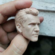 Diy 1/6 sem pintura mel gibson cabeça esculpir macho pvc cabeça esculpida modelo para 12
