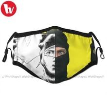 Ninja brian máscara facial kawai engraçado com 2 filtros para adulto ninja boca máscara facial