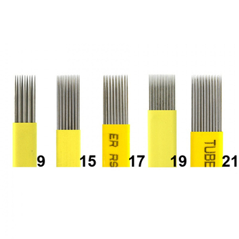 50pcs mixing 9/15/17/19/21 Pin Microblading Shading Blade Tattoo Needles DOUBLE ROW Needle Fog Eyebrow & Lip - discount item  16% OFF Tattoo & Body Art