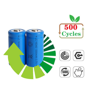 Image 2 - 1300mAh 3.7V Li ion Rechargeable 16340 Batteries CR123A Battery For LED Flashlight Travel Wall Charger For 16340 CR123A Battery