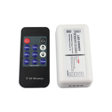 Wireless LED Dimmer DC 12V 24V 4A/CH 2 Channel Adjustable Timer 11 Keys RF Remote Controller for Single Color LED Strip Lights