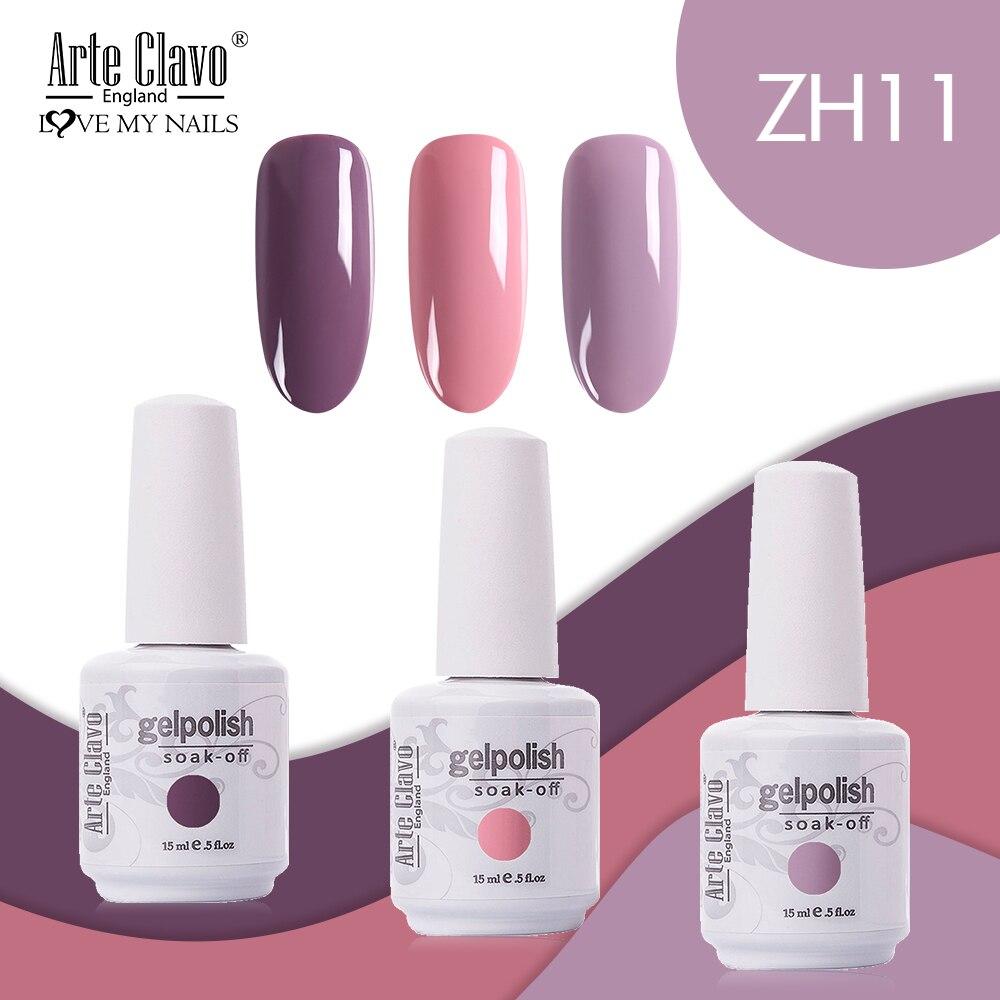 Arte Clavo 15ml Color 2/3/4pcs/Kit LED UV Gel Nail Polish Soak Off Semi Permanant Nail Varnish Manicure Nail Gel Colors Varnish