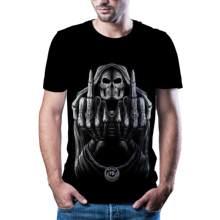 2020 yeni animasyon 3D baskl tirt rahat erkek moda T-shirt komik korku palyao 3D sokak animasyon T-Shirt