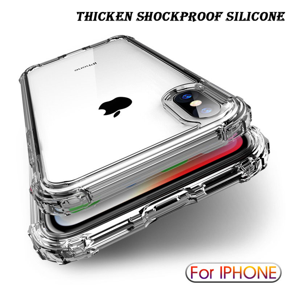 Luxury Shockproof Transparent Silicone Case For iPhone 11 Pro Max XR X XS Soft Phone Shell For iphone 6 7 8 Plus 12 Back Cover