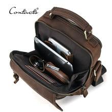 CONTACT'S Crazy Horse Leder Männer Messenger Tasche Vintage Mann Handtaschen für 7.9