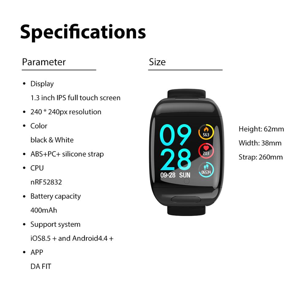 lowest price Torntisc 2020 Sport Smart Watch Men with TWS Bluetooth Earphones Heart Rate Blood Pressure Monitor Smartwatch for Android IOS