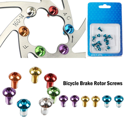 12PCS Colorful Bicycle Disc Brake Rotor Torx Bolts T25 M5x10mm MTB Bike Alloy Steel Disc Brake Rotor Fixing Screws
