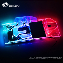Radiator-Block BYKSKI TUF3 RX5700XT Gaming-Support Copper ASUS O8G Led-Light Arylic A-RGB/RGB