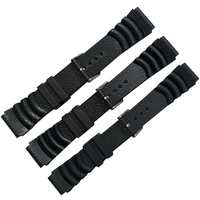 High Quality Rubber Strap Rubber Watchband Man Watch Universal Replacement Bracelet Strap for Sport Watch With buckle for men