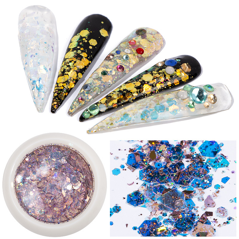 Refers To Princess Manufacturers Direct Selling 8-Color Shimmering Powder Goblin Pupil Sequin Nail Stickers Nail Sequins