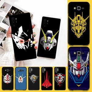 HPCHCJHM Gundam head TPU black Phone Case Cover Hull For Samsung Note 7 8 9 10 pro Galaxy J7 J8 J6 Plus 2018 Prime