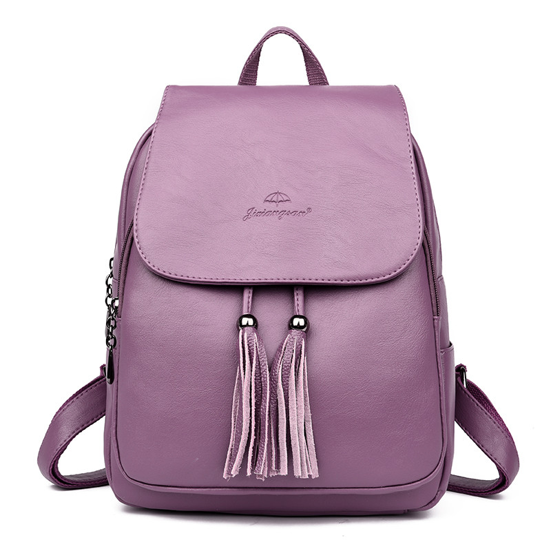 Fashion 2019 Women Backpacks Women's Leather Backpacks Female School Backpack Shoulder Bags For Teenage Girls Travel Backpack