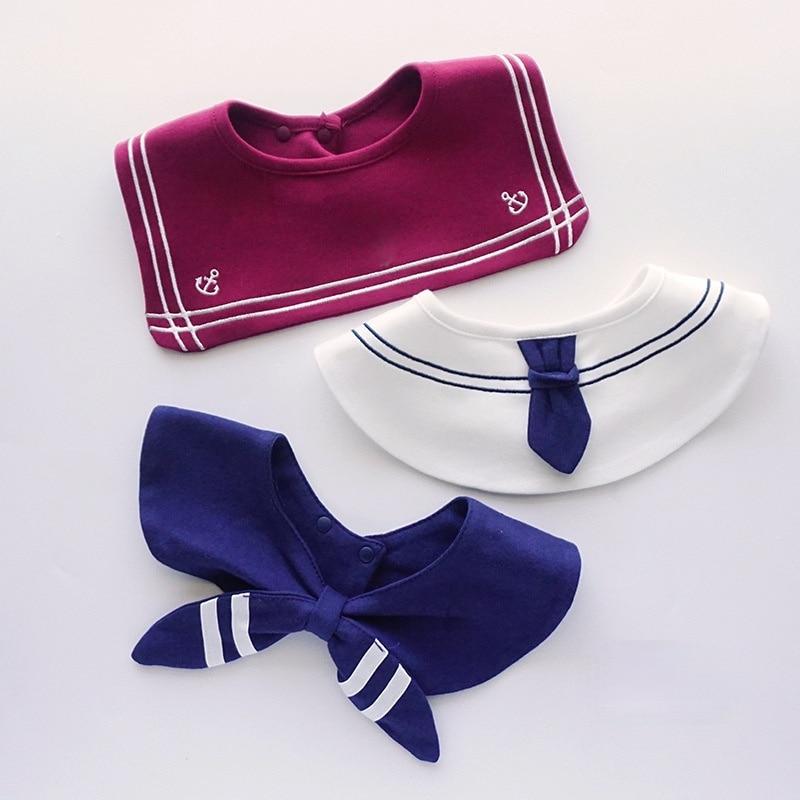 Newborn Accessories Designer Baby Bibs Burp Cloths Infant 360 Degree Saliva Towel Fashion Fake Collar Bandana Bibs Baberos Bebe