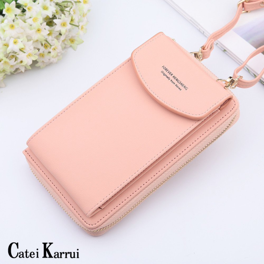 NEW Korean Version Messenger Bag Large Capacity Women's Purse Buckle Zipper Bag Soft Leather Versatile Women's Bag Shoulder Bag