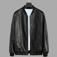 2019 New Leather Jacket Men Stand Lead Clothing Short Fund Pu Bomber Jaket Loose Coat Male Jaqueta De Couro