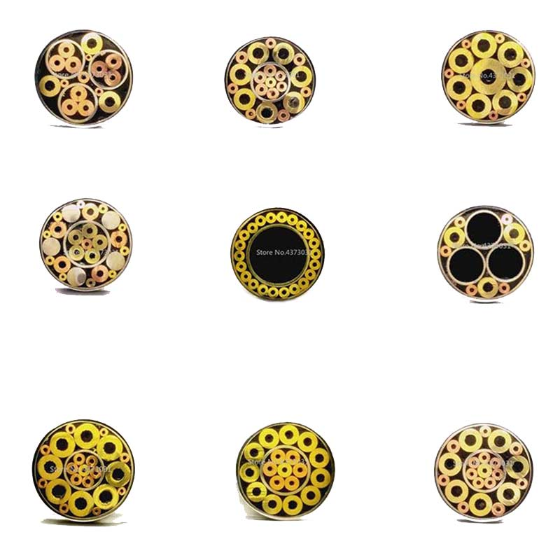 6mm Mosaic Pin Rivets for Knife Handle Screw Decorate 21 Kinds Design Exquisite Style Knife Handle Tool Length 9cm